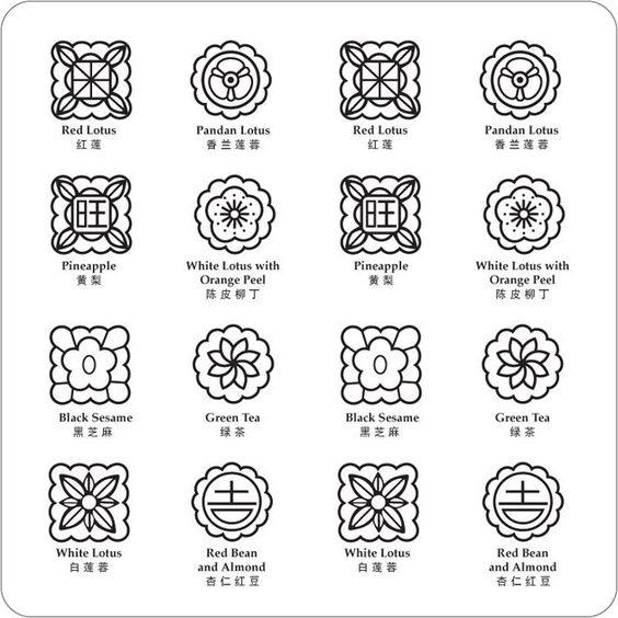 月饼花纹图案设计