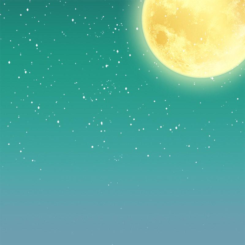 卡通月亮矢量图