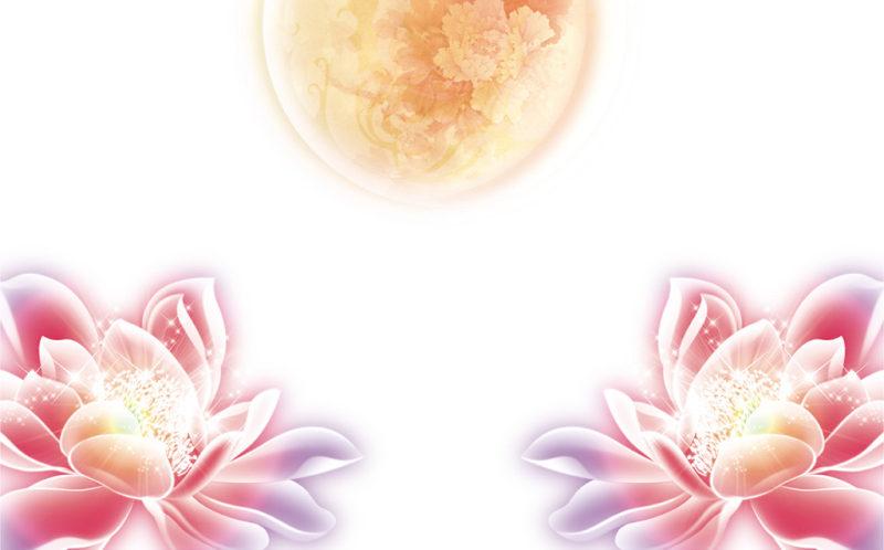 创意图案素材 图案素材免费下载 月亮矢量图 月亮图案素材 牡丹花