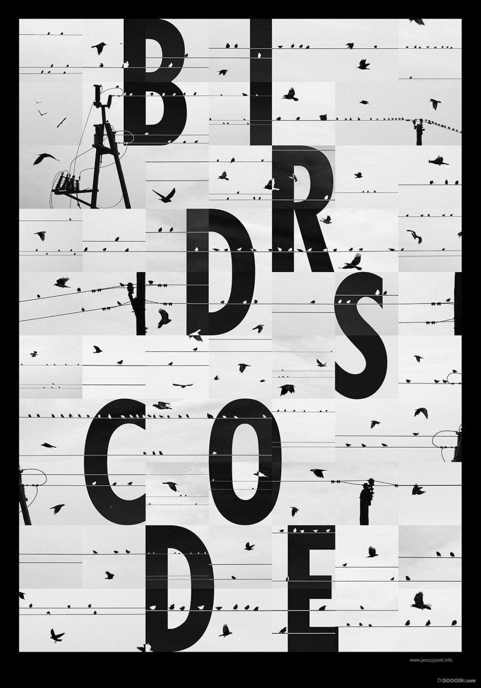 國外創意黑白字體海報設計