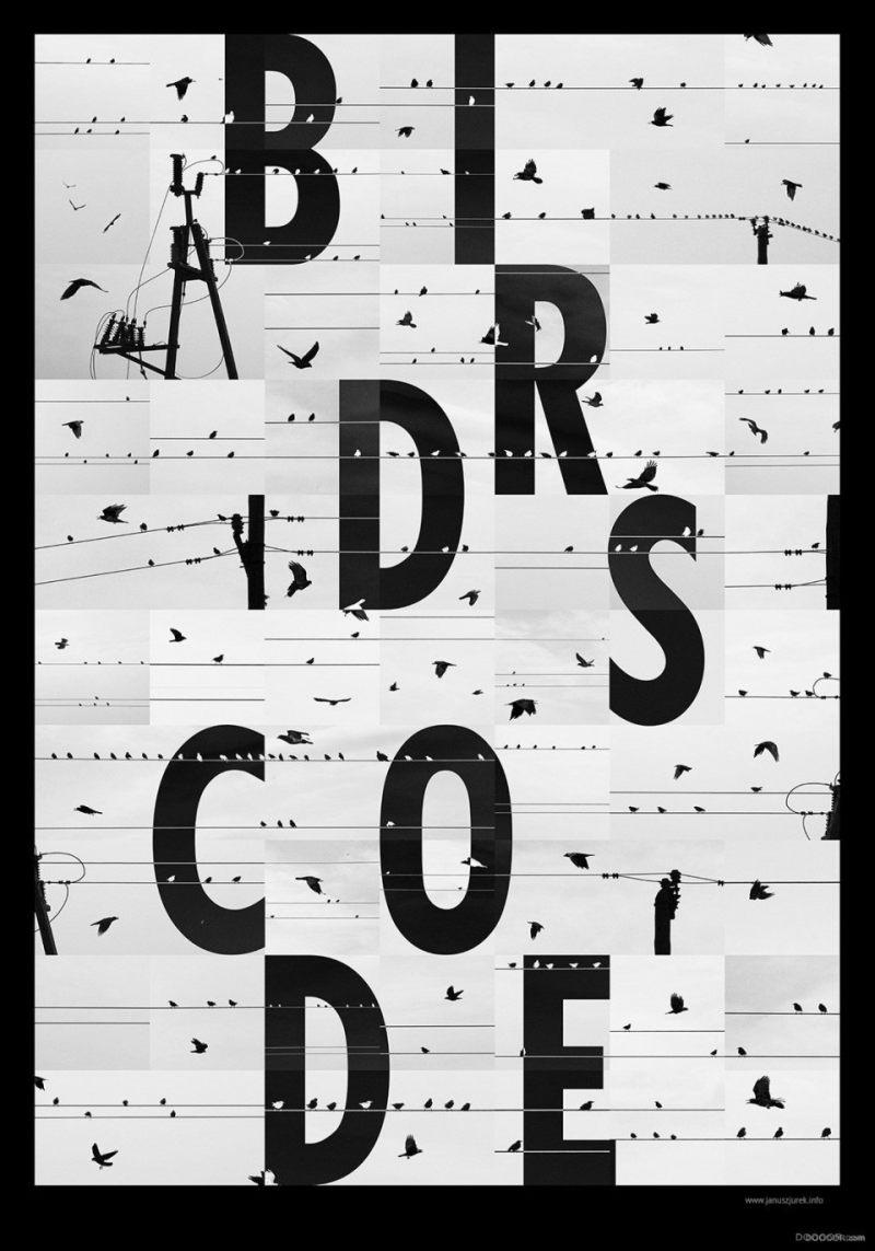 国外创意黑白字体海报设计
