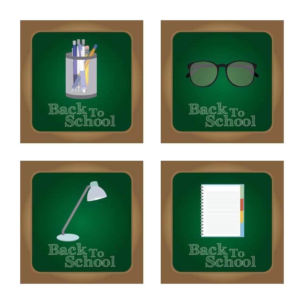 笔筒眼镜台灯文件黑板素材eps格式