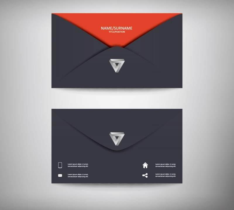 创意商务信封名片eps矢量素材