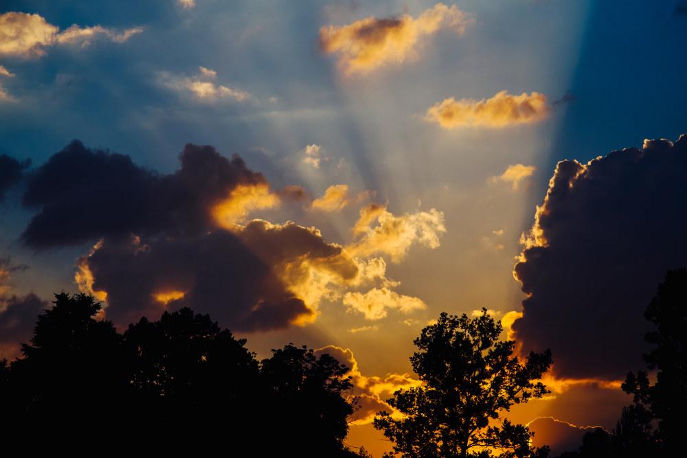傍晚夕阳 高清自然风景背景摄影图 壁纸