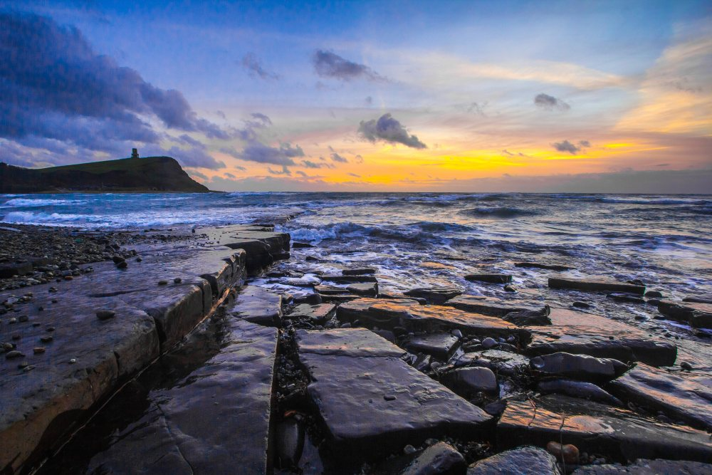 晨曦的海岸 高清自然风景背景摄影图 壁纸