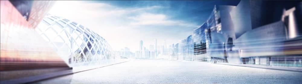 大气都市建筑背景banner设计psd素材
