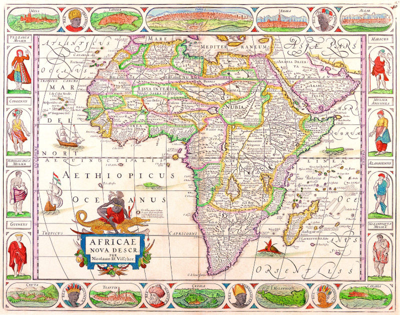 复古世界地图背景底纹素材
