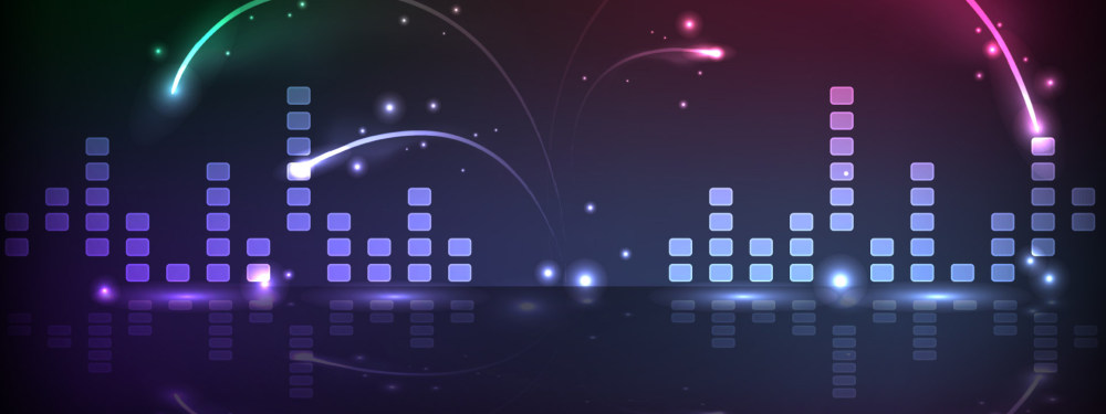 黑色音乐旋律线背景banner设计psd素材