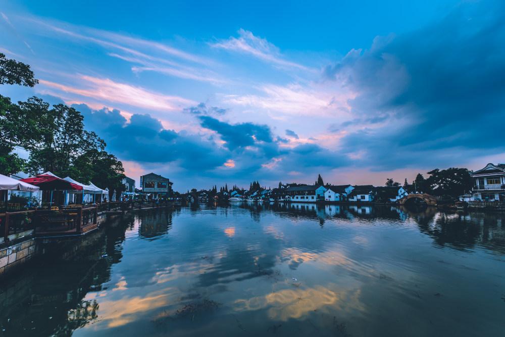 江南水乡古镇 高清城市建筑风光背景摄影图 壁纸