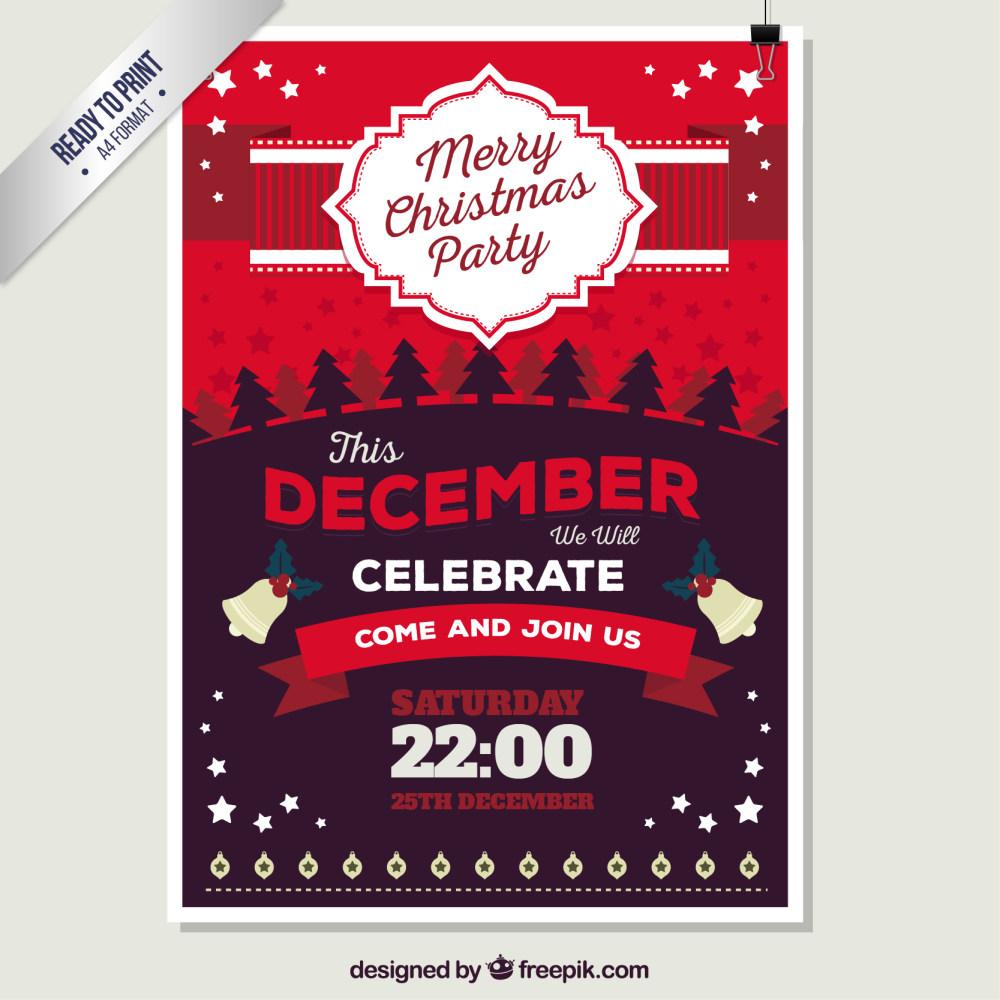 精美圣诞节节日海报设计ai矢量素材