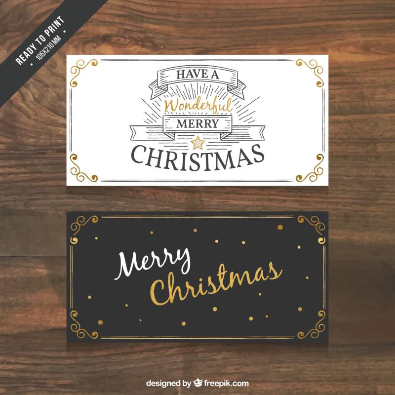 圣诞节简洁邀请卡设计eps矢量素材