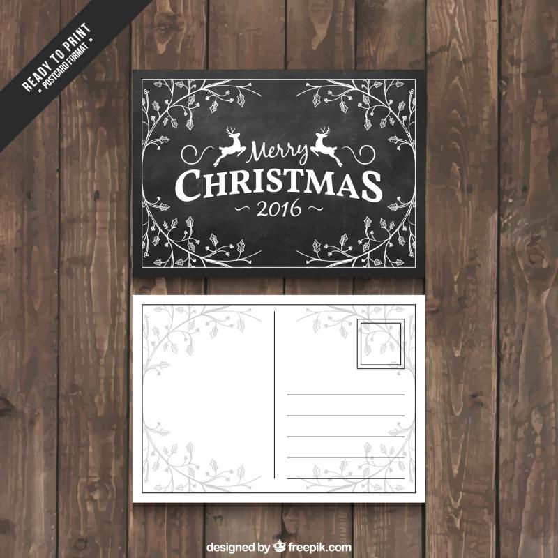 圣诞节简单明信片设计eps矢量素材