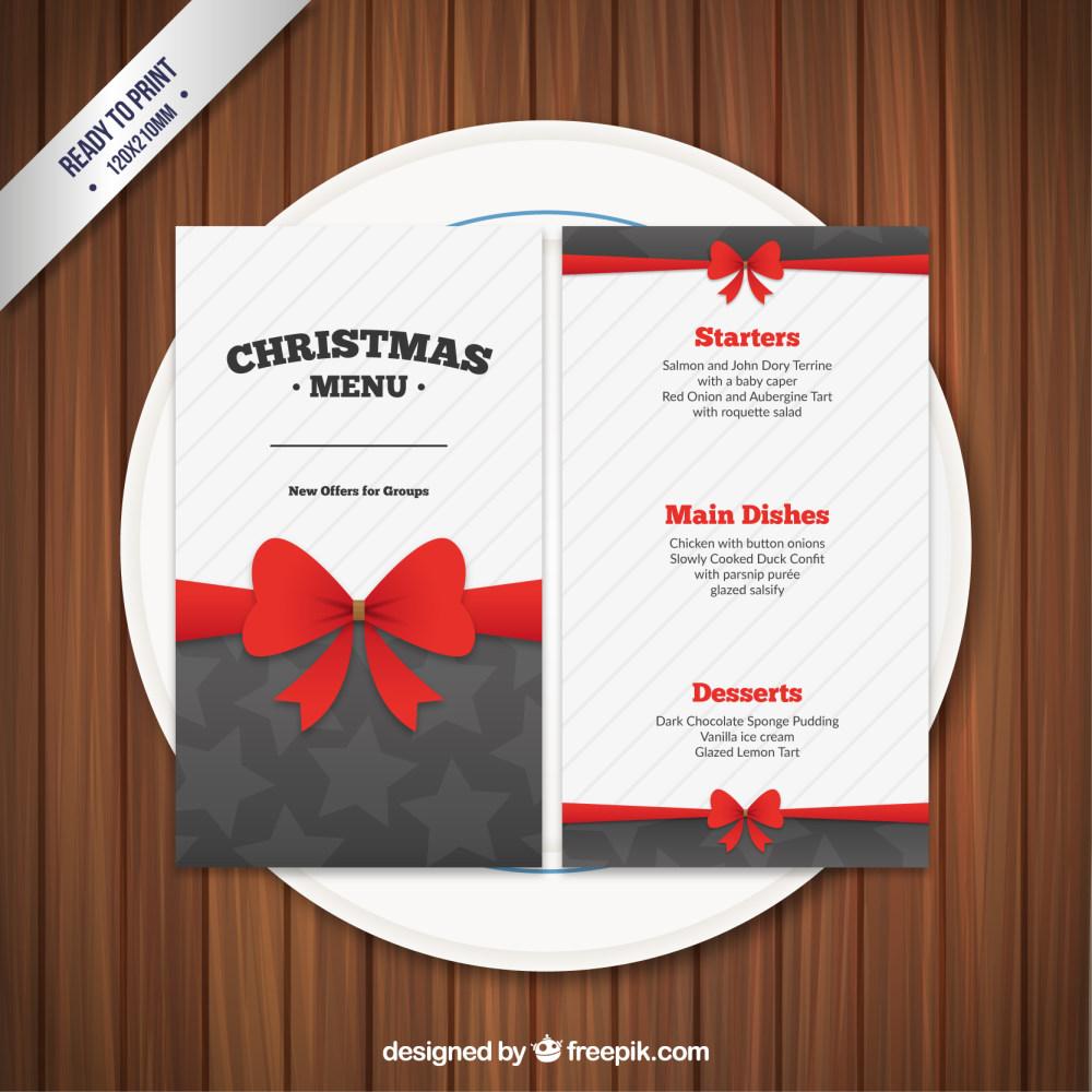 精美圣诞节菜单设计eps矢量素材