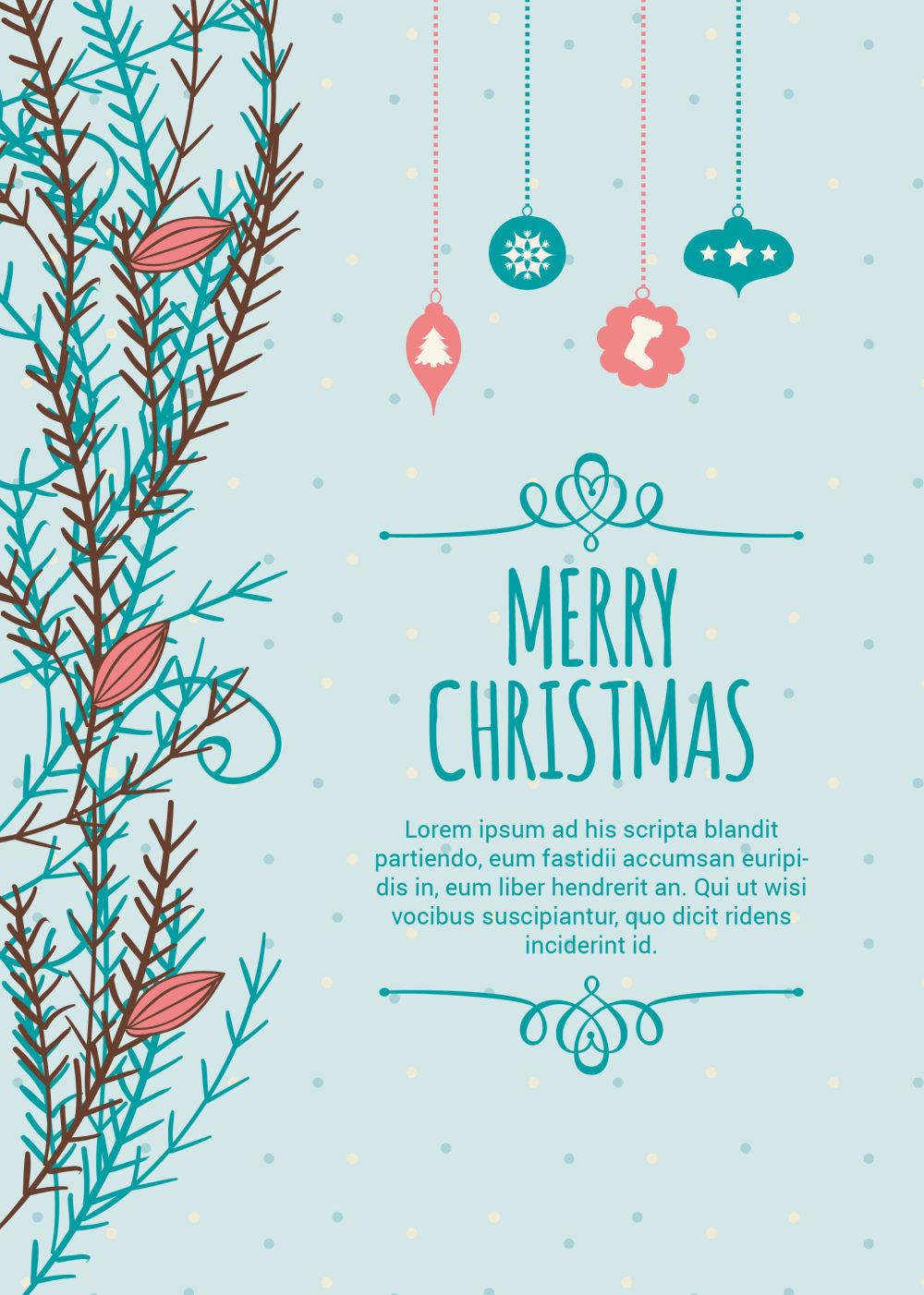 圣诞节节日海报设计ai矢量素材