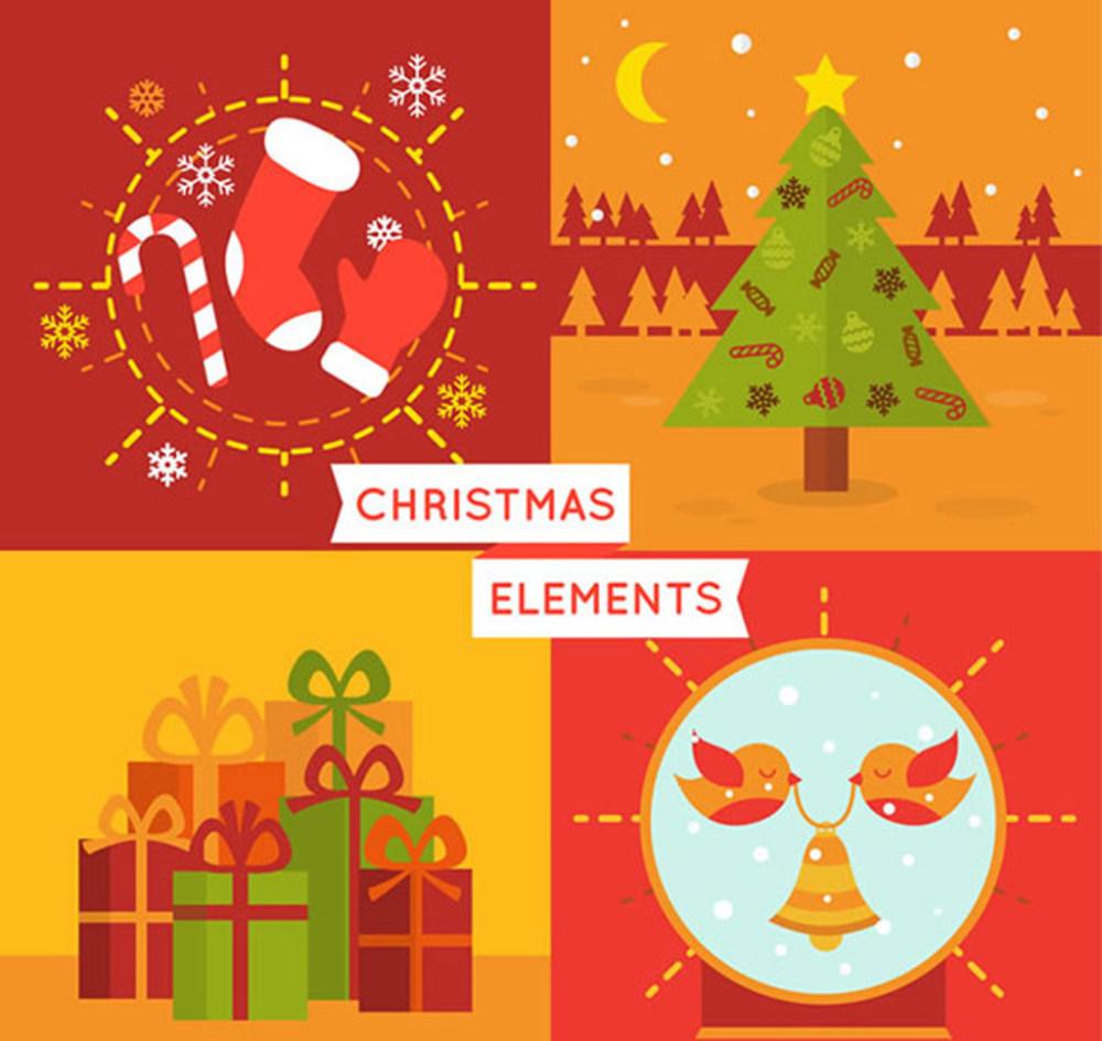 圣诞节卡通图案素材ai矢量素材