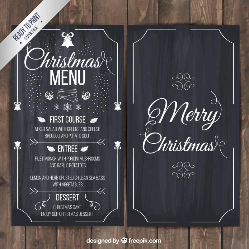 圣诞节黑板展架设计ai矢量素材