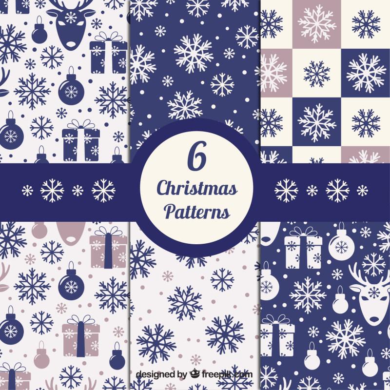 圣诞节花纹背景图案底纹eps矢量素材