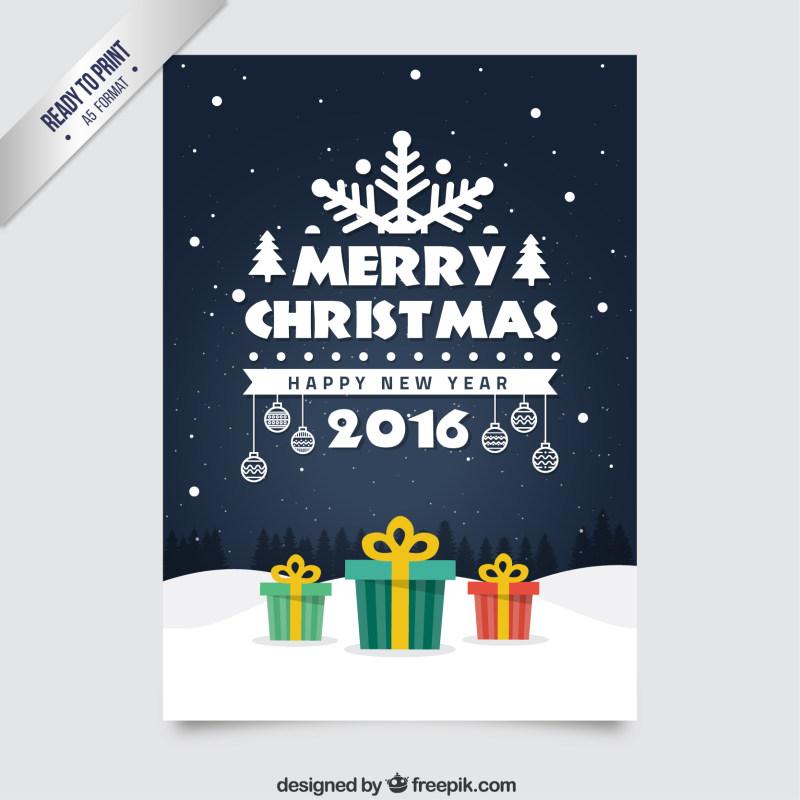 圣诞节节日海报设计eps矢量素材