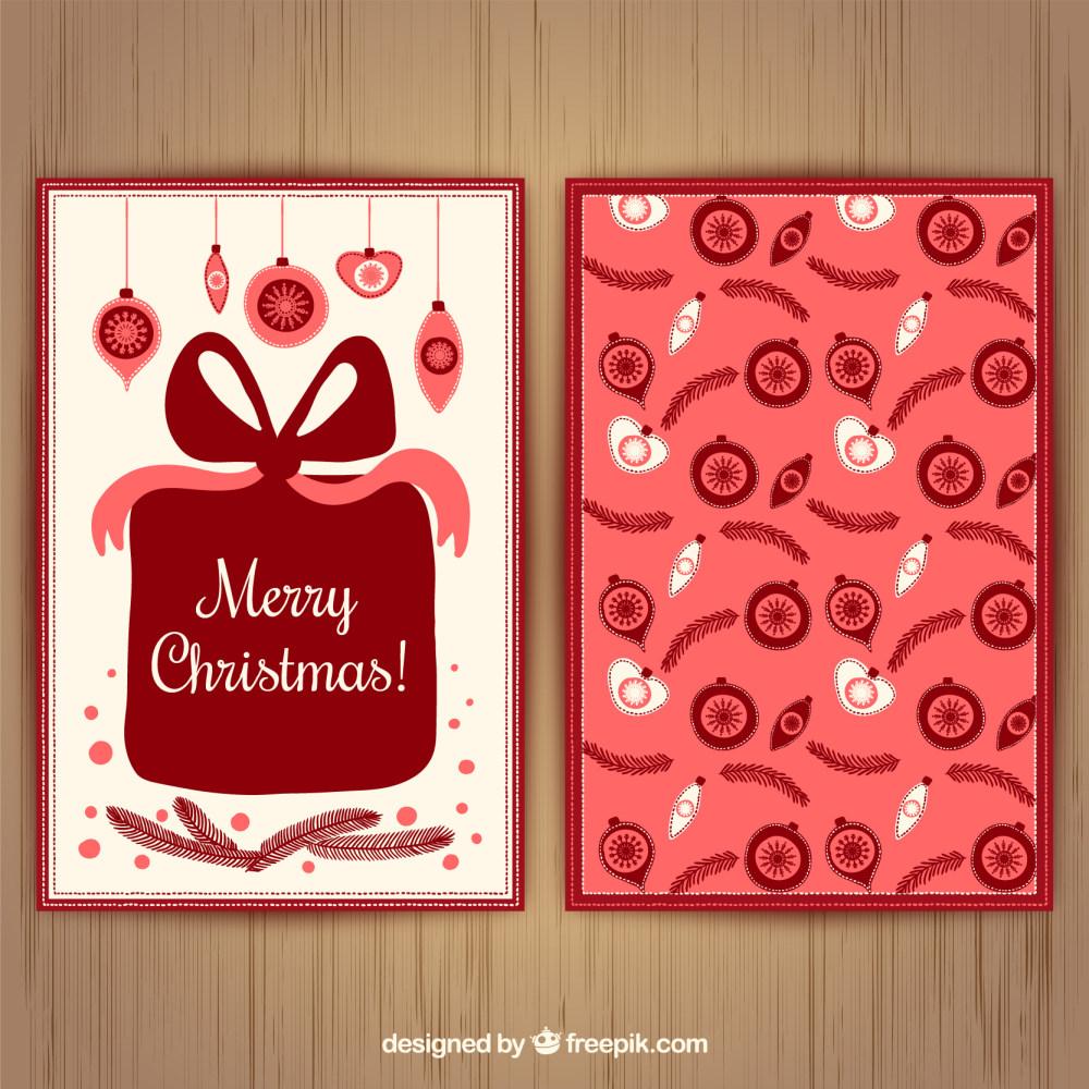 圣诞节礼品贺卡设计eps矢量素材