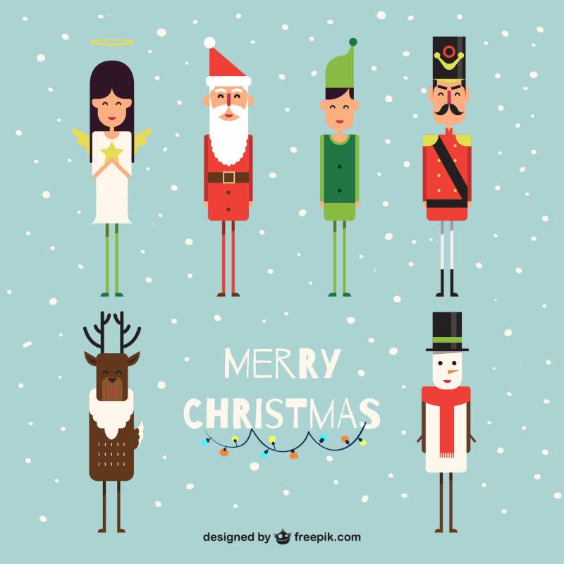 圣诞节卡通插画ai矢量图