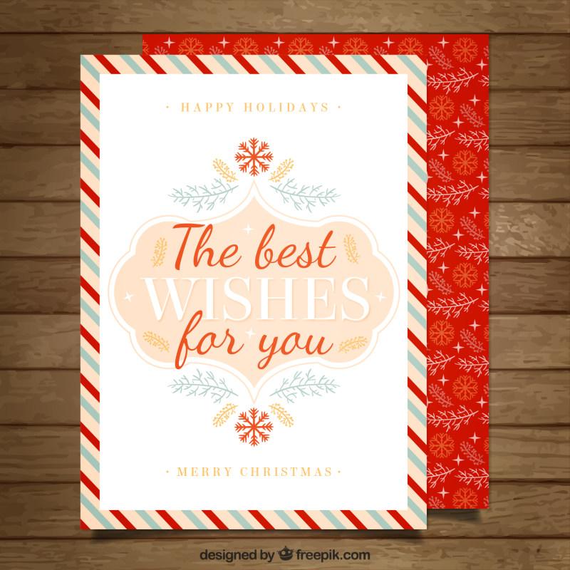 圣诞节精美贺卡ai矢量素材