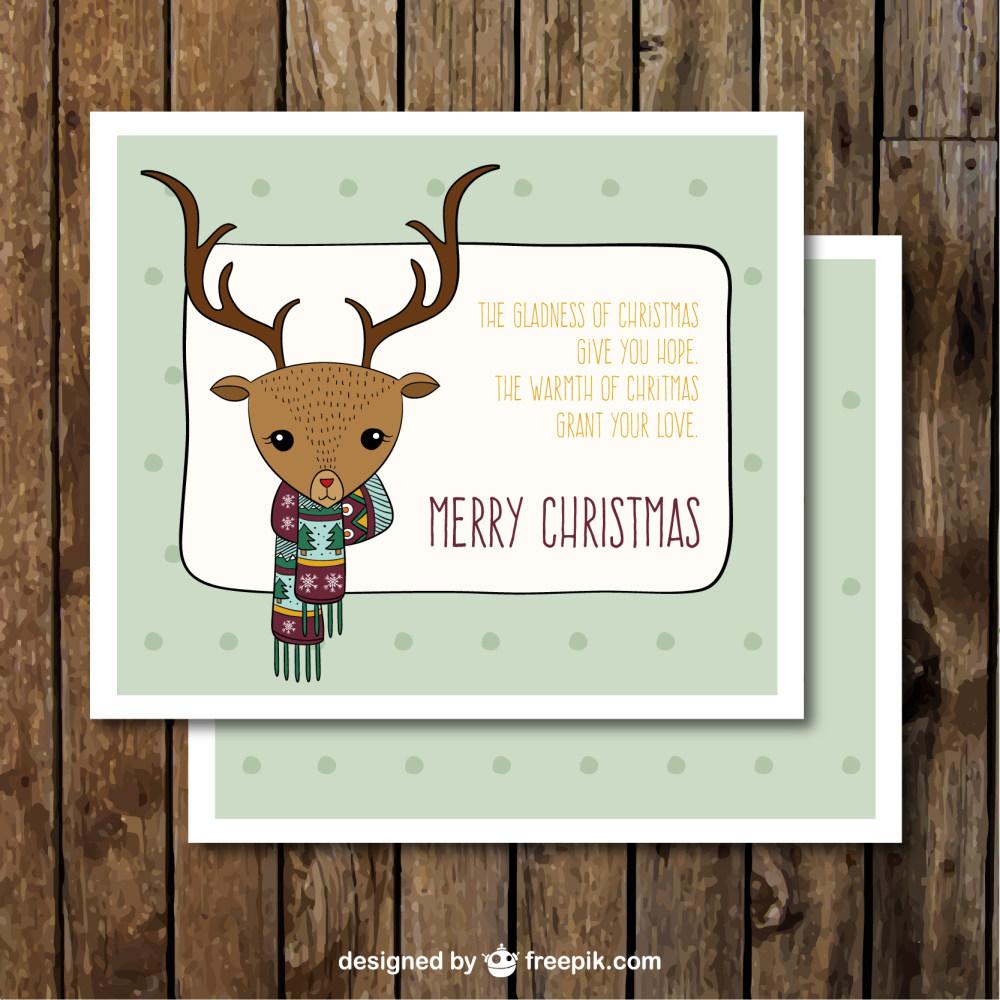 可爱圣诞鹿贺卡设计eps矢量素材
