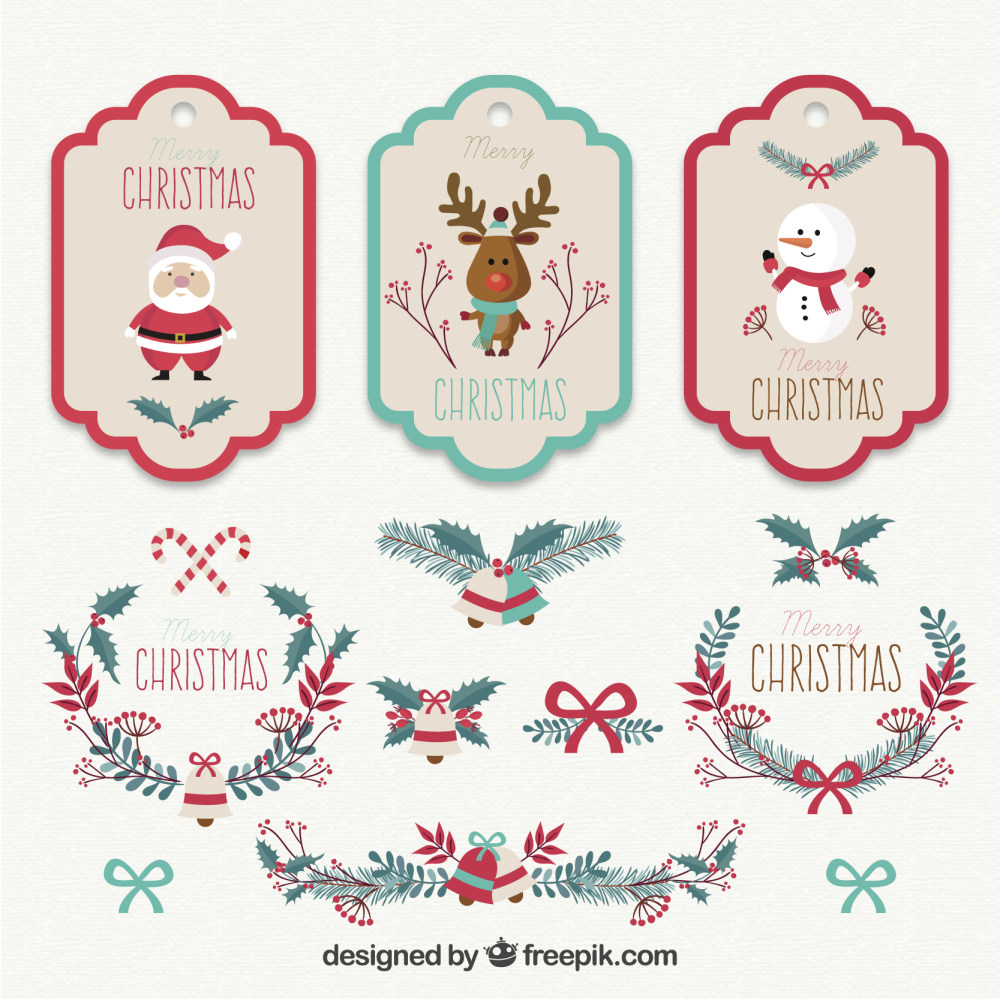 圣诞节标签吊牌设计ai矢量素材