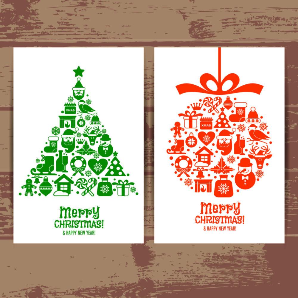 圣诞节创意简单海报设计eps矢量素材
