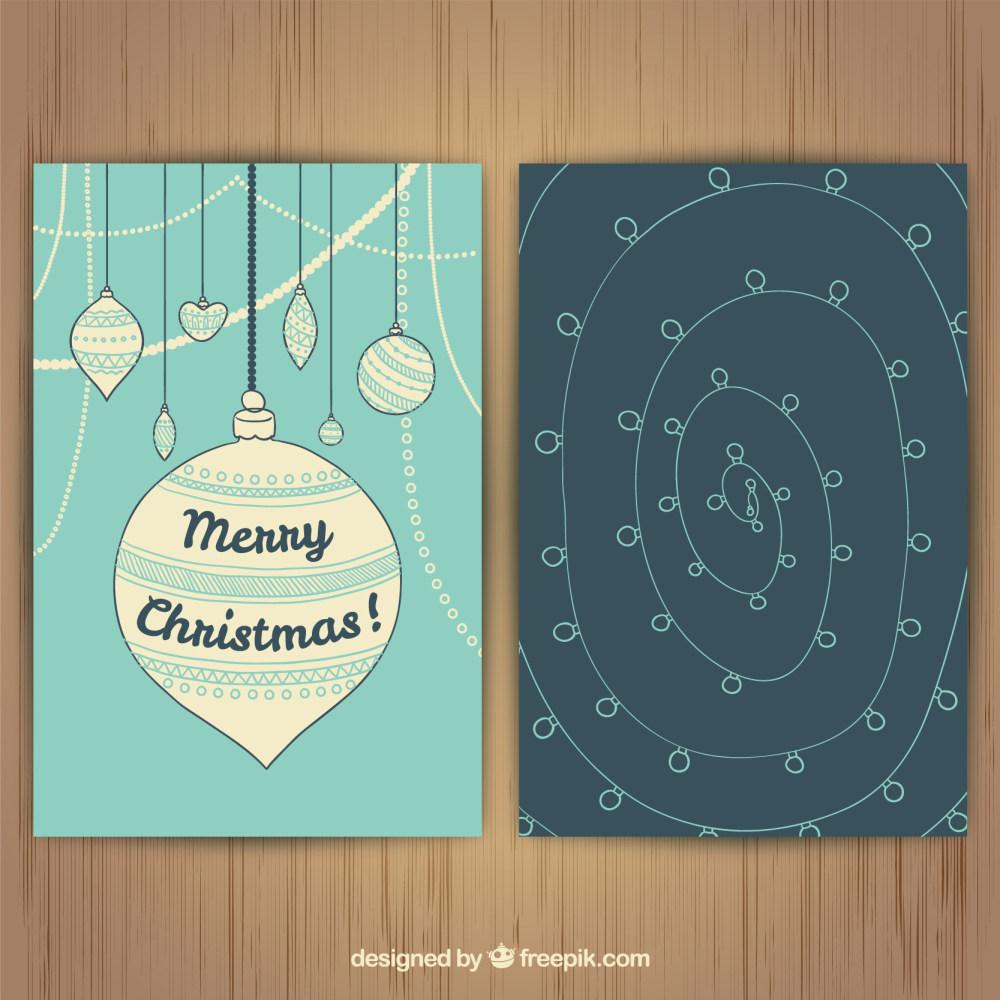 精美圣诞贺卡封面设计eps矢量素材
