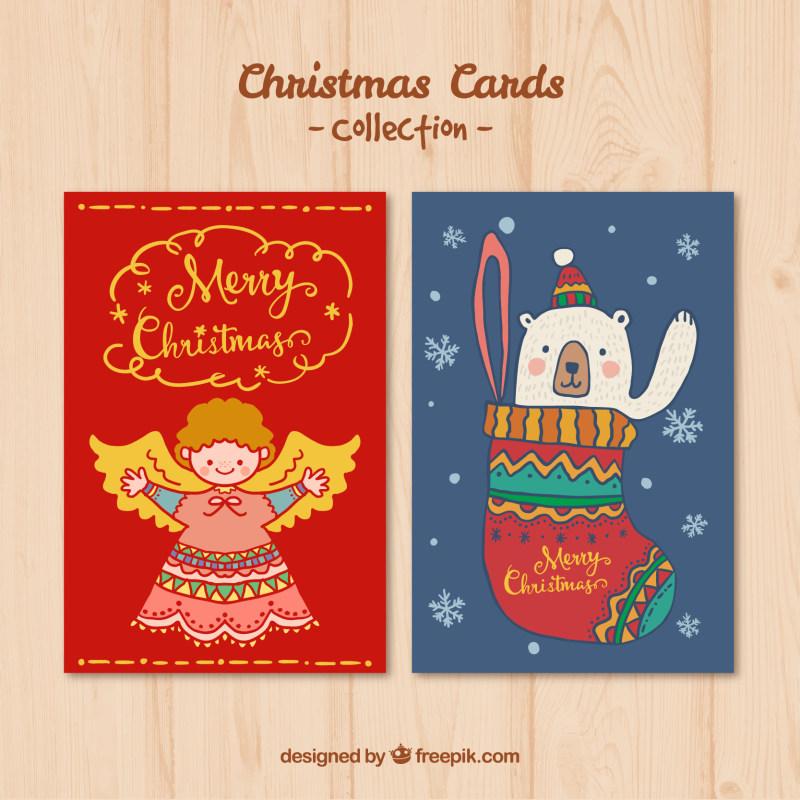 圣诞节卡通节日海报设计ai矢量素材